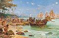 Desembarque de Pedro Álvares Cabral em Porto Seguro em 1500 by Oscar Pereira da Silva (1865–1939).jpg