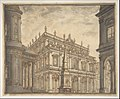 Design for a Stage Set- A Town Square with a Fountain. MET DP807885.jpg