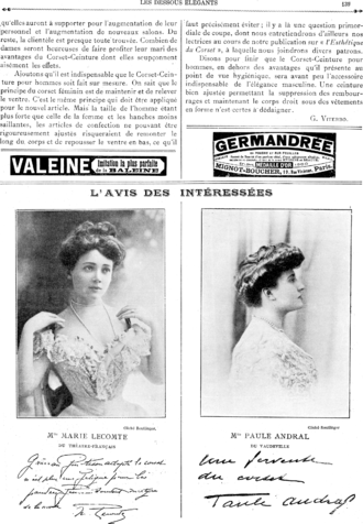 Paule Andral - Paule Andral (on the right) in Les Dessous Élégants