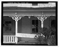 Detail of lower story front and porch - Hammer-Taylor House, 3309 Bristol Highway, Johnson City, Washington County, TN HABS TN-244-10.tif