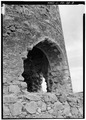 Detail view of arch opening in base of windmill tower. - Hacienda Azucarera Vives, Playita Machete, Guayama Municipio, PR HAER PR,38-MACH,1-8.tif