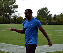 Description de l'image  Detroit Lions Receiver Ryan Broyles at the 2012 Lions training camp.jpg.