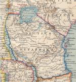 Carte de la   Deutsch Ostafrika   en 1894