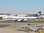 Deutsche Lufthansa Boeing 747-830 Intercontinental D-ABYT (retro livery) at JFK Airport.jpg