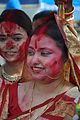 Devotee - Durga Idol Immersion Ceremony - Baja Kadamtala Ghat - Kolkata 2012-10-24 1372.JPG