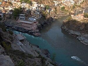 Devprayag - Image: Devprayag Bhagirathi Alaknanda