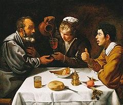 Znalezione obrazy dla zapytania velasqez-chłopi przy posiłku