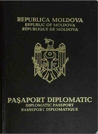 Moldovan passport - Image: Dip pass md