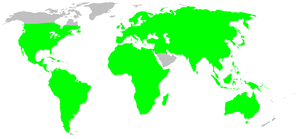 Long-jawed orb weaver - Image: Distribution.tetragn athidae.1
