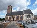 Dohem (Pas-de-Calais, Fr) église Saint-Omer extérieur.JPG