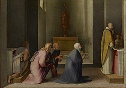 Domenico Beccafumi - The Miraculous Communion of Saint Catherine of Siena - 97.PB.26 - J. Paul Getty Museum.jpg