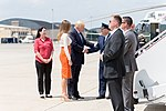 Donald and Melania Trump are welcomed at Joint Base Andrews, May 2017.jpg