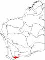 Dryandra ser. Plumosae map.png