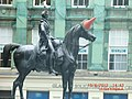 Duke of Wellington Statue with a Cone on the Horse's Head in Glasgow - panoramio.jpg