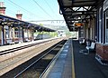 Dumbarton Central Platforms 1 & 2 on the North Clyde and West Highland Lines. View towards Glasgow.jpg
