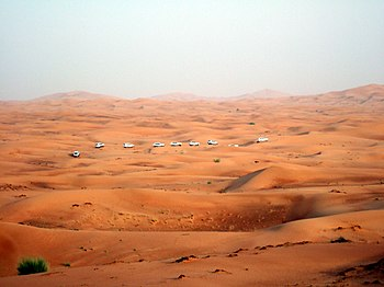 A view of the desert landscape on the outskirt...