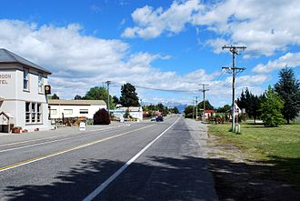 New Zealand State Highway 83 - Image: Duntroon Main Street