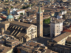 The Cathedral and the Baptistry of Parma.