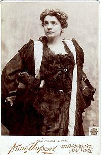Eleonora Duse i hovedrollen i Kameliadamen.