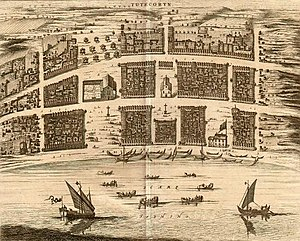 Thoothukudi - View of the Dutch port in Tuticorin, in 1752