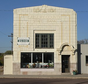 National Register of Historic Places listings in Gregory County, South Dakota - Image: East Gregory County Museum from E 1