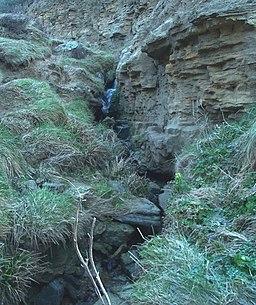 Ecclesbourne Glen (lower) waterfall - geograph.org.uk - 737345