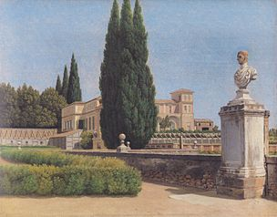Villa Albani seen from the Garden. Rome