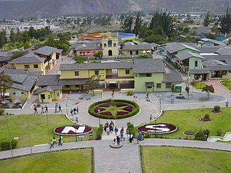 Ciudad Mitad del Mundo - Ciudad Mitad del Mundo as seen from the west from the 30-meter-high terrace of the museum