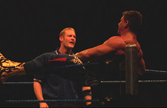 Eddie Guerrero - Guerrero lies on a corner, one of his characteristic traits
