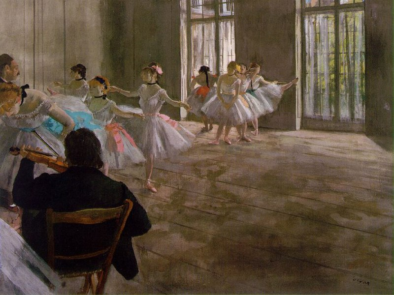 Dance School, 1876. Edgar Degas