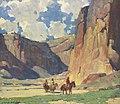 Edgar Payne Indians Riding through the Canyon de Chelly.jpg