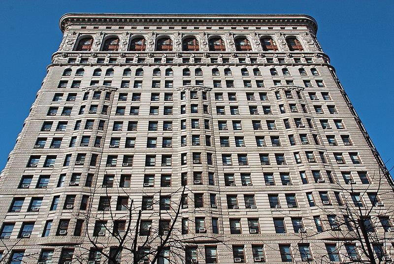 Archivo:Edificio Fuller (Flatiron) Fachada Broadway.jpg