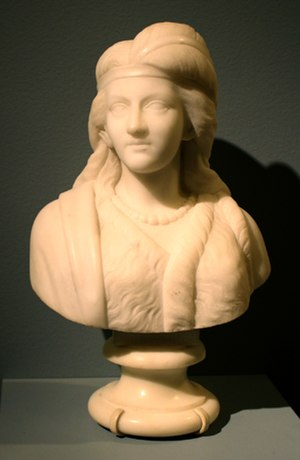 Edmonia Lewis - Minnehaha, marble, 1868, collection of the Newark Museum