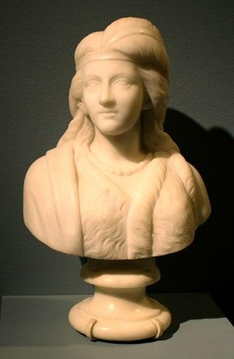 Edmonia Lewis - Minnehaha, marble, 1868, collection of the Newark Museum