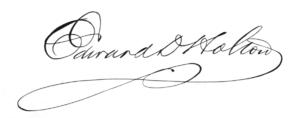 Edward D. Holton - Image: Edward Holton Signature