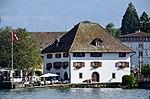 Ehemalige Sust in Horgen, Ansicht vom Dampfschiff Stadt Rapperswil der Zürichsee-Schifffahrtsgesellschaft (ZSG) 2013-09-13 16-13-59.JPG