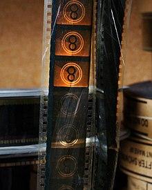 Uno spezzone della pellicola cinematografica.