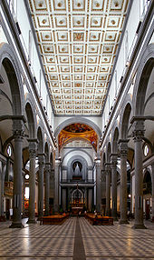 San lorenzo florence wikipedia for Interior iglesia san lorenzo brunelleschi