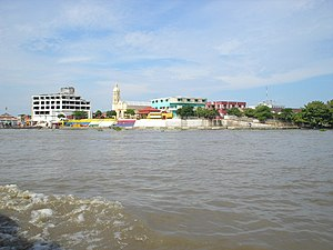 Magdalena Department - View of the municipality of El Banco from the Magdalena River