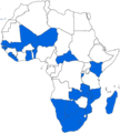 Electoral Democracies in Africa, Freedom House 2007.png