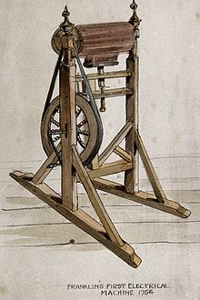 Franklin S Electrostatic Machine Wikipedia