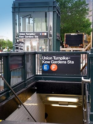 Kew Gardens–Union Turnpike (IND Queens Boulevard Line) - Elevator and southeastern stairway