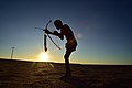 Elia Fester, Kalahari Khomani San Bushman, Boesmansrus camp, Northern Cape, South Africa (20538289985).jpg
