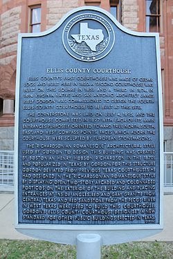 Ellis county courthouse, waxahachie, texas historical marker (6884672092)