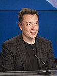 Elon Musk at the SpaceX CRS-8 post-launch press conference (25711174644) (cropped).jpg