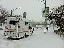Emergency Vehicle on fullerton and Lake Shore Drive Chicago Feb 2 2011.JPG