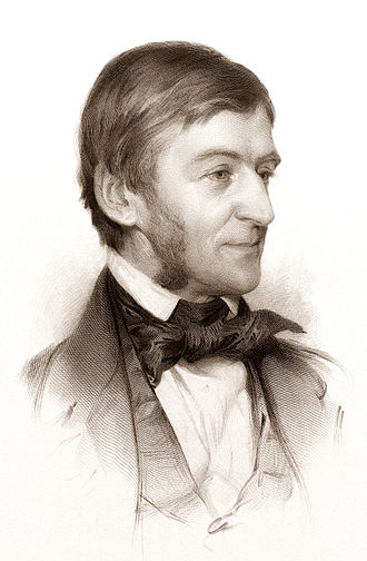 Ralph Waldo Emerson - Engraved drawing, 1878