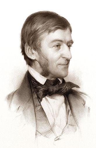 Ralph Waldo Emerson - Engraved drawing, 1878