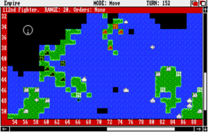 Classic Empire - Screenshot of Empire for the Amiga.