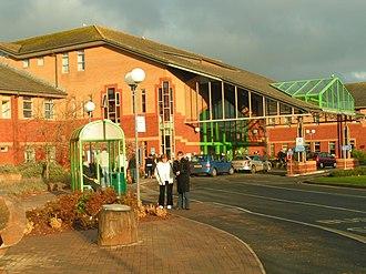 Royal Devon and Exeter Hospital - Image: Entrance to Royal Devon and Exeter Hospital, Wonford geograph.org.uk 1072819